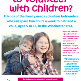 Would you like to volunteer with children?