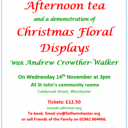 Afternoon tea and Christmas floral displays