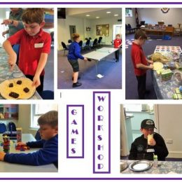 Games workshop for 5s to 13s focus children